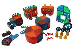 Amazon.com: Award Winning Magnetic Stick N Stack 100 piece ACCESSORY set Including Doors, Windows, Gates, Cars & train connectors ,6 Figures, Arches, and much more.: Toys & Games