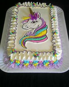 Birthday Cake Girls, Unicorn Birthday Parties, Bolo Da Peppa Pig, Unicorn Foods, Unicorn Cakes, Rosalie, Cake Designs, Cookie Decorating, Amazing Cakes