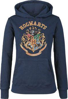 Hogwarts - Hooded sweater by Harry Potter Harry Potter Mode, Harry Potter Style, Harry Potter Outfits, Harry Potter Hogwarts, Harry Potter Kleidung, Sweat Shirt, Hogwarts Crest, Slytherin, Womens Fashion