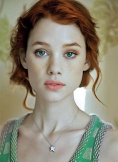 """Astrid Bergès-Frisbey Titled """"Me"""" by [DreamWeaver51] on deviantart. (I have doubts that DreamWeaver is really Astrid Bergès Frisbey, as he/she claims :D. But it is a beautiful portrait) UPDATE:  im-the-doctor-basically-run said: That's actually an edited photo! I just did a quick google search cuz she is so gorgeous, turns out she's a brunette in a pink dress  Thanks, I found the photo here. She is gorgeous! She looks better just as gorgeous with red hair ;)"""