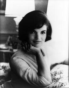 Official White House portrait U.S. First Lady Jacqueline Kennedy in 1961. Doesn't she look young and serene in this photograph? Photographer: Mark Shaw.