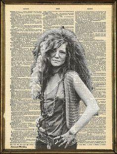 Janis Joplin Dictionary Art Print