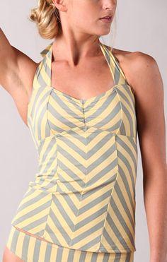 Islander Top-- Yellow Chevron Stripe... adorable!