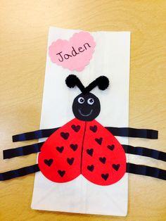 Ladybug Valentine's Day bags for school!