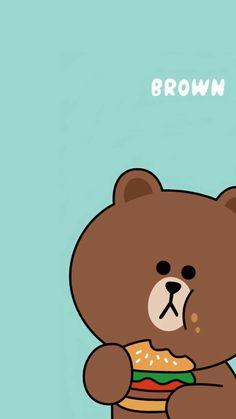 Simpson Wallpaper Iphone, Wallpaper Fofos, Lines Wallpaper, Brown Wallpaper, Disney Phone Wallpaper, Friends Wallpaper, Bear Wallpaper, Iphone Wallpaper, Cute Panda Wallpaper