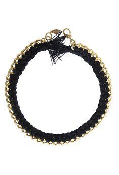 Black Estelle Necklace By ShopJami.com