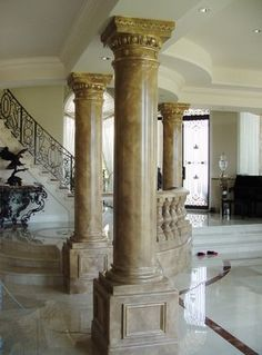 Painted Marbles / Faux Stone Columns