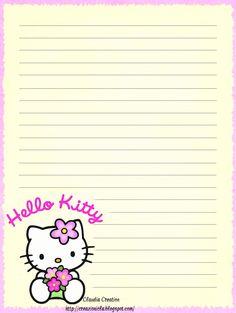 il mio angolo creativo: Carta da lettere Hello Kitty