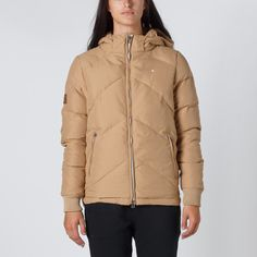 Huffer | Huffer Store | Huffer Womans Classic Down Jacket - Tan | Thanks Store Online