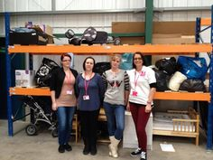 Danielle, Emily, Donna & Becky in our warehouse