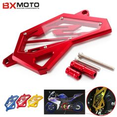 18.14$  Buy here - http://aliuwl.shopchina.info/1/go.php?t=32728998801 - For Yamaha YZF R3 R25 2014 2015 2016 Motorcycle accessories Front Sprocket Chain Guard Cover Left Side Engine Protector Red  #SHOPPING
