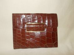 Stunning Art deco 1930's crocodile clutch bag in perfect condition by VintageHandbagDreams on Etsy