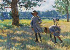 Henri Lebasque - La Cueillette des fleurs, 1900, oil on canvas, 23.2 x 31.9 cm