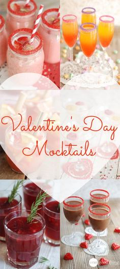 "Make Valentine's Day extra special for ""sweethearts"" young and old with these super festive ""mocktails!"" Each one tastes as good as it looks!"