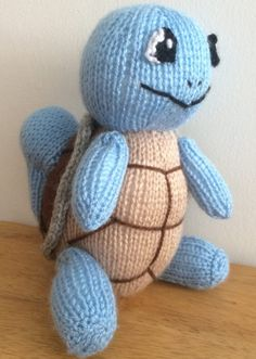 Knitting pattern for Pokemon Squirtle