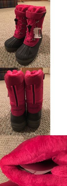 efc69262555a7 Girls Shoes 57974  Lands End Youth Girls Expedition Snow Boots Dark Rose  Sizes 6 And