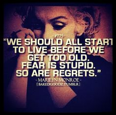 ~Marilyn Monroe~ quote