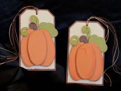 Pumpkin Gift Tags  Fall  Autumn  Tags  Thanksgiving by PaperKayper