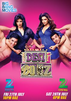 Desi Boyz starring Akshay Kumar, John Abraham, Deepika Padukone and Chitrangdha Singh Desi Boyz, John Abraham, World Most Beautiful Woman, Akshay Kumar, Hindi Movies, Drama Series, Deepika Padukone, Cinema, Movie Posters