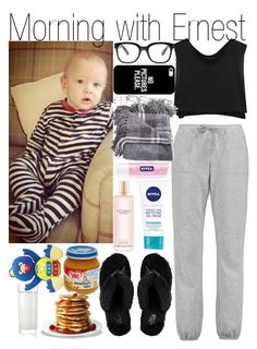 """Morning with Ernest"" by kiksfashion ❤ liked on Polyvore featuring Kiki de Montparnasse, Calvin Klein Underwear, Forever 21, UGG Australia, Casetify, Kendra Scott, Victoria's Secret, Nivea and Pablo"