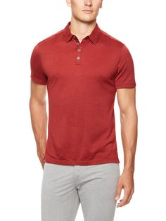 Knit Polo Shirt by John Varvatos at Gilt #mensfashion