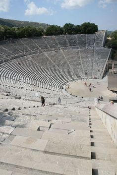 Ancient Theatre of Epidaurus, Greece - if you stand on the right stone.what you…