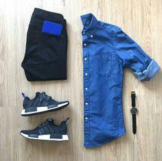 """c44b7ae457831 Stylish Grid Game on Instagram  """"Stylish Blue Grid by  mrjunho3 🔽 Follow  👉  stylishgridgame 👈 🔽 💻www.StylishGridGame.com💻 🔽 Brands ⤵ 🔹Shirt +  ..."""