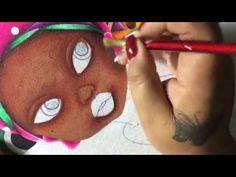 Pintura En Tela Africanita # 3 Con Cony - YouTube