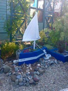 Hardwood oak boat
