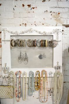 Hand made right in our studio! Organize you necklaces, earrings, bracelets, scarves, purses etc. Perfect for your romantic farmhouse!
