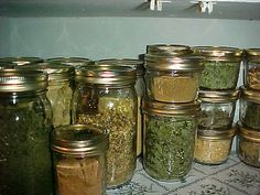 Most herbs get dried and stuffed into small jars. Others do better preserved as a paste, and still others do well as syrups. Freezing is a less than palatable option but acceptable for herbs that will be used in soups, stews, and sauces. Freeze-drying is an option but not easy