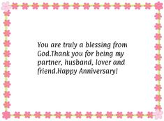 Happy Anniversary Message for Husband Husband Thank You Quotes, Wife Quotes, Valentine's Day Quotes, Couple Quotes, Anniversary Message For Husband, Happy Anniversary Messages, Valentines Day Quotes For Wife, Valentines Day Messages, Happy Bday Husband
