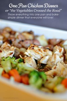 easy 1 pan chicken + vege dInner