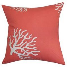 Coral Pillow in White