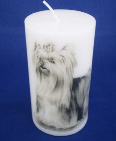 Printed Candle, Yorkshire Terrier