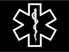 silhouette medical alert symbol | Medic Star Of Life Symbol EMT EMS Medical Car Truck Window Decal