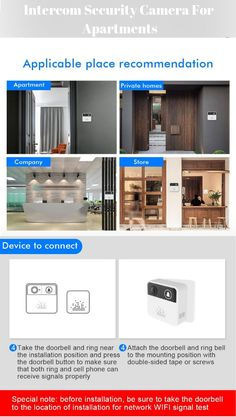 You can trust on this smart video intercom security. You can see, hear and speak to visitors from anywhere. You can adjust the sensors to find the ideal setting for your home. Gadgets And Gizmos, Electronics Gadgets, Doorbell Button, Smart Ring, Ring Video Doorbell, Material Science, Hidden Camera, Intercom, Electrical Engineering
