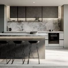 Fabulous Modern Kitchen Sets on Simplicity , Efficiency and Elegance Tips & … - luxury kitchen Kitchen Room Design, Luxury Kitchen Design, Kitchen Sets, Home Decor Kitchen, Interior Design Kitchen, Kitchen Furniture, Home Kitchens, Kitchen Designs, Contemporary Kitchen Design