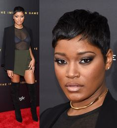 Keke is pushing through Short Relaxed Hairstyles, Girls Short Haircuts, Pixie Hairstyles, Pixie Haircut, Cool Hairstyles, Short Sassy Hair, Short Hair Cuts, Pixie Cuts, Short Pixie