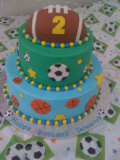 Bens Sports Birthday Cake Childrens Birthday Cakes Desserts