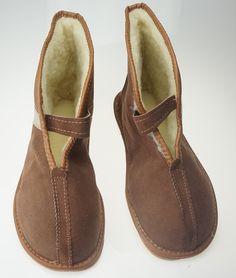 VENDITA Naturale in pelle uomo lana pantofole di TrendingSlippers