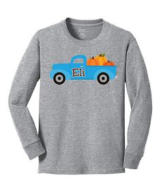 Another great find on #zulily! Gray Pumpkin Truck Tee - Infant, Toddler & Kids #zulilyfinds