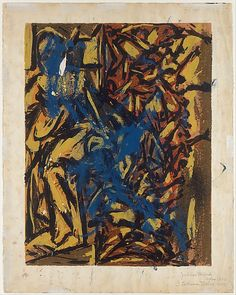 "Untitled - 1939-42 - Ink, gouache, watercolor, colored pencils, graphite pencil on paper - H26"" X W20.5"" - Signed ""Jackson Pollock Before 1943"" and ""Lee Krasner Pollock 1957"" - Metropolitan Museum of Art New York - Copyright PKF/ARS"