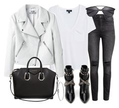 """""""Untitled #19436"""" by florencia95 ❤ liked on Polyvore featuring H&M, MANGO, Givenchy, Yves Saint Laurent and Michael Kors"""