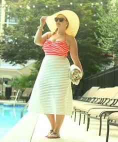 My Fashion Essentials Pool Outfits, Summer Outfits, Lace Skirt, Midi Skirt, Summer Beach, Beach Pool, Floppy Sun Hats, Eugenia Kim, Fashion Essentials