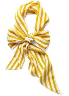 silk, silk scarf, summer, spring, scarf, yellow, yellow stripe, stripes