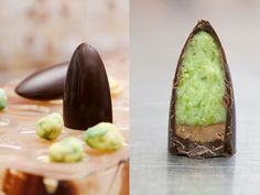 Wasabi pralines by Belgian chocolatier Dominique Persoone, chocolate boutique The Chocolate Line #belgium