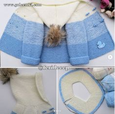 GULCEMKİ: MAVİ DEGRADE HIRKA YAPIMI Crotchet Patterns, Baby Knitting Patterns, Baby Cardigan, Crochet Baby Clothes, Cable Knit, Kids Fashion, Winter Hats, Models, Blue