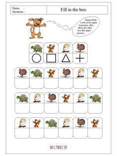 fill-in-the-box-worksheet-workpage-for-pre-school-children-8 Coding For Kids, Math For Kids, Lessons For Kids, Fun Math, Preschool Prep, Preschool Activities, Worksheets For Kids, Kindergarten Worksheets, Visual Perception Activities