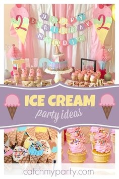 Ice Cream Theme Birthday Juliens Ice Cream Party Brunch Ice